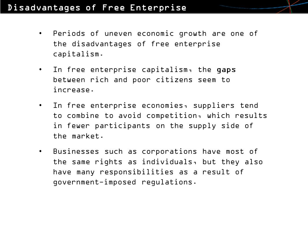 The main characteristic of the enterprise 10