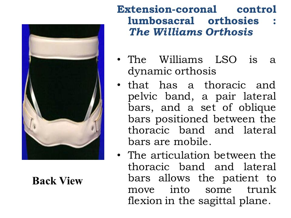Spinal orthosis  - ppt video online download