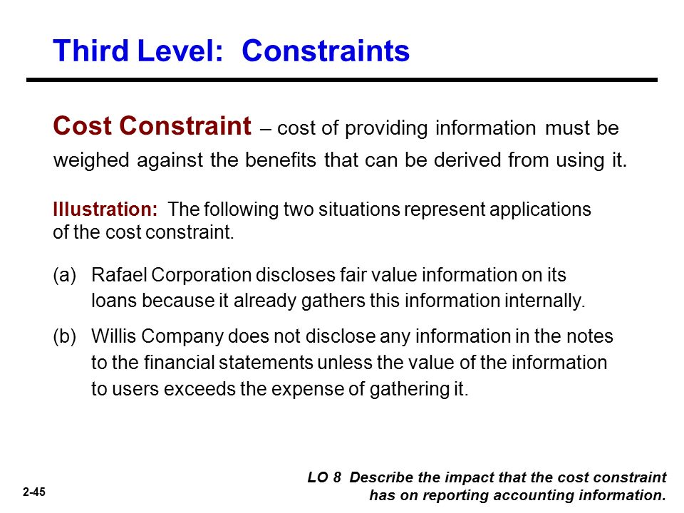 accounting constraints
