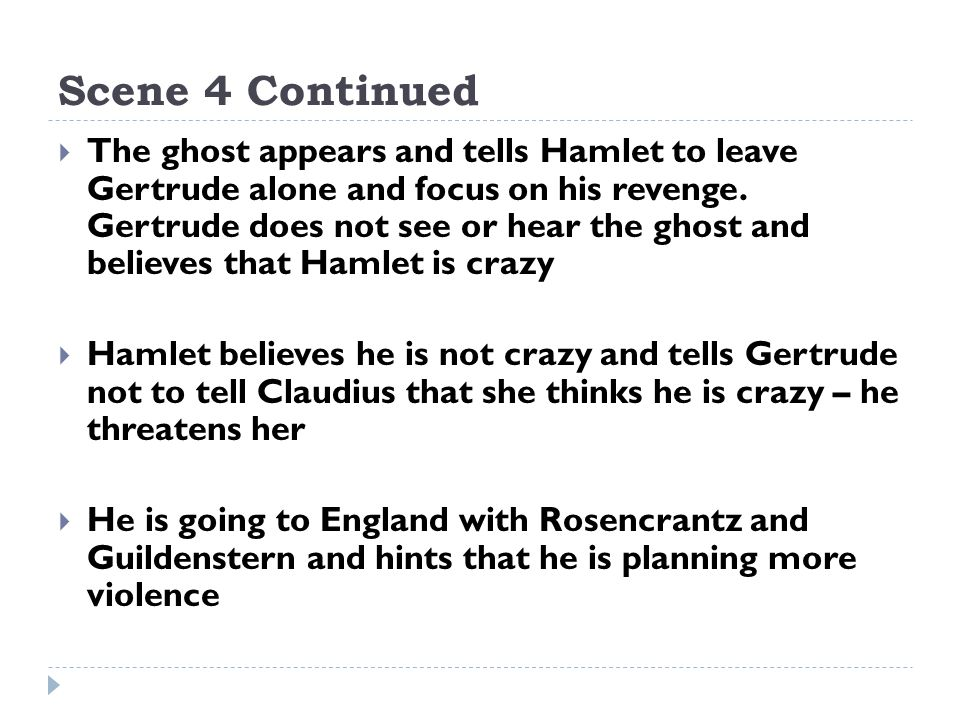 hamlet tells gertrude hes not mad