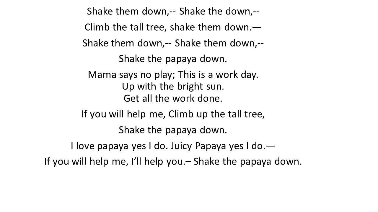 All The Papaya Song - Pantheon