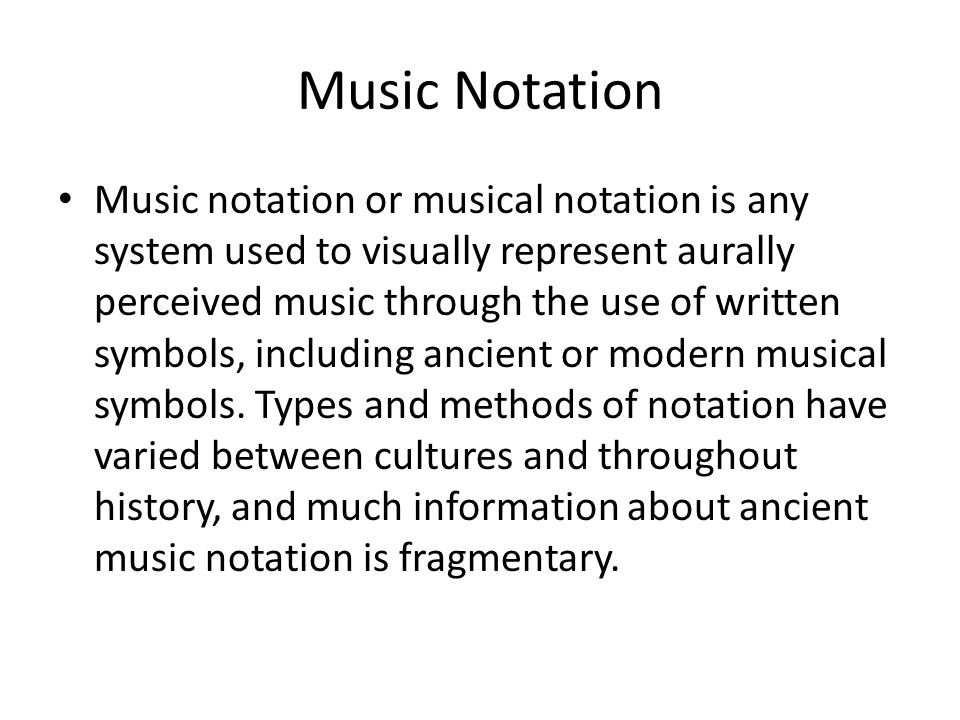 History Of Music Notation Ppt Download