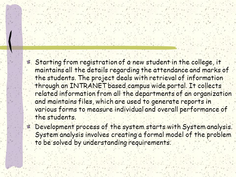 Student attendance management system ppt