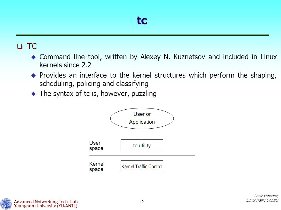 Linux Traffic Control and usage of tc/tcng for traffic