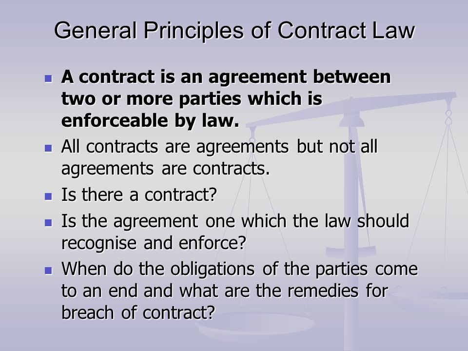 Lg538 Law General Principles Of Contract Law Ppt Video Online