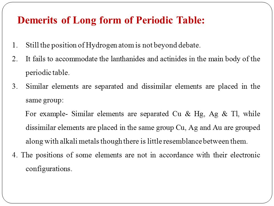 Classification Of Elements Ppt Video Online Download