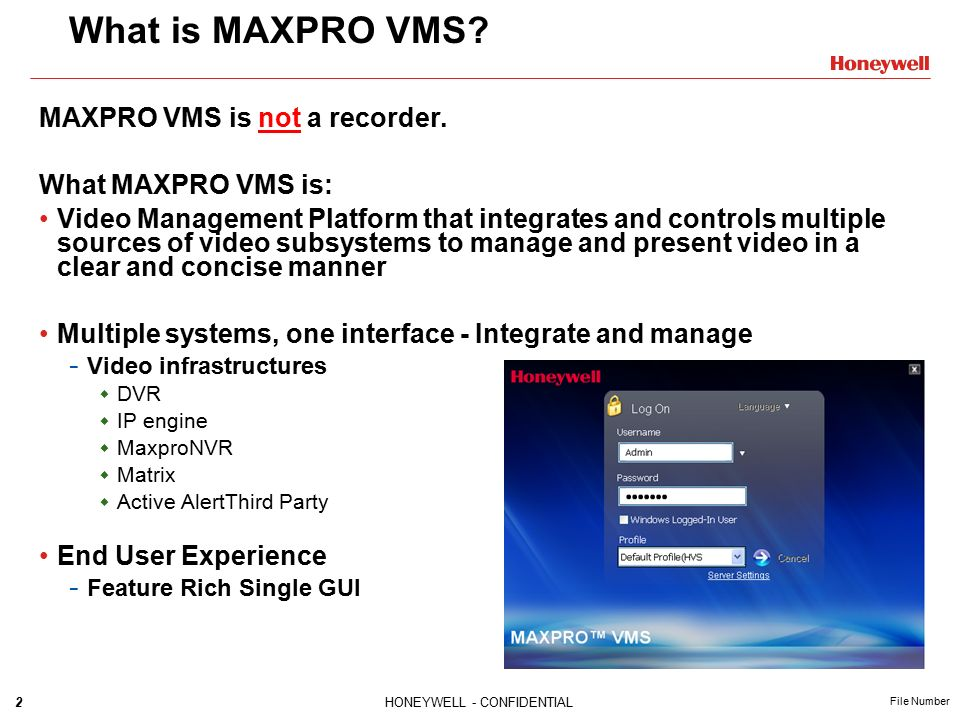 MAXPROTM VMS Overview  - ppt video online download