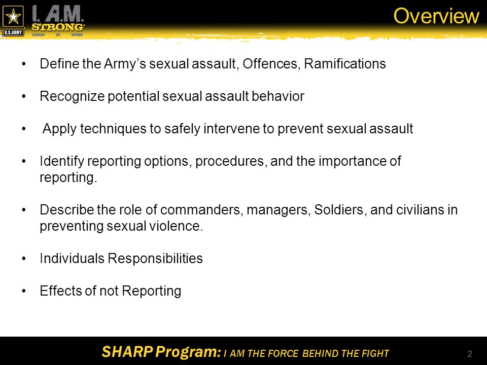 sexual assault ppt army