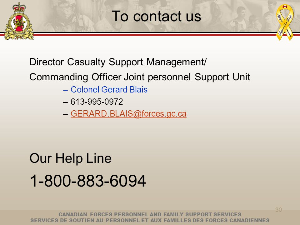 Our Help Line To contact us