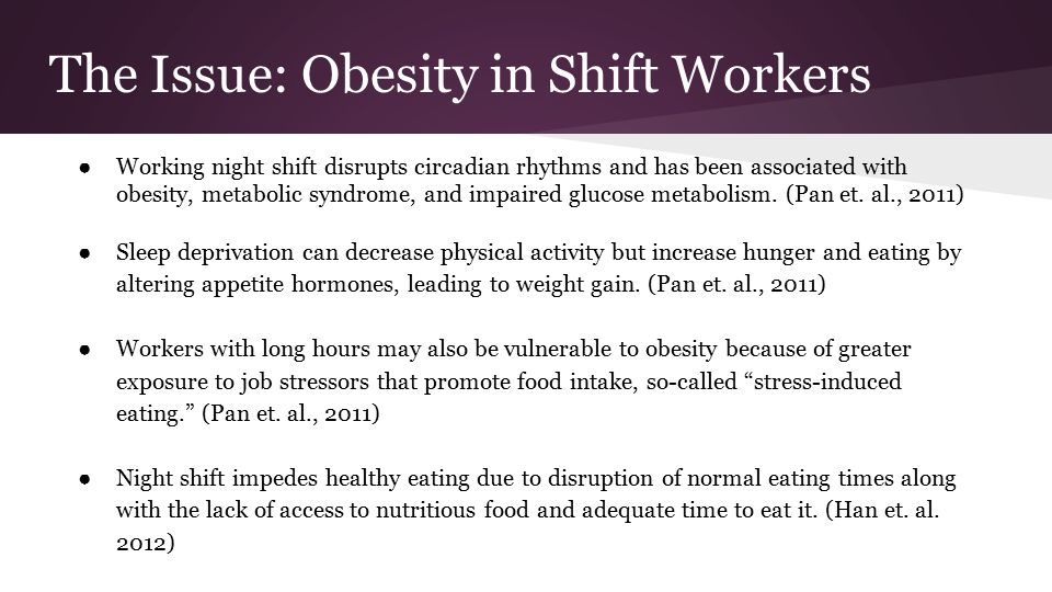 Obesity in Night Shift Nurses at NYU Langone Medical Center - ppt