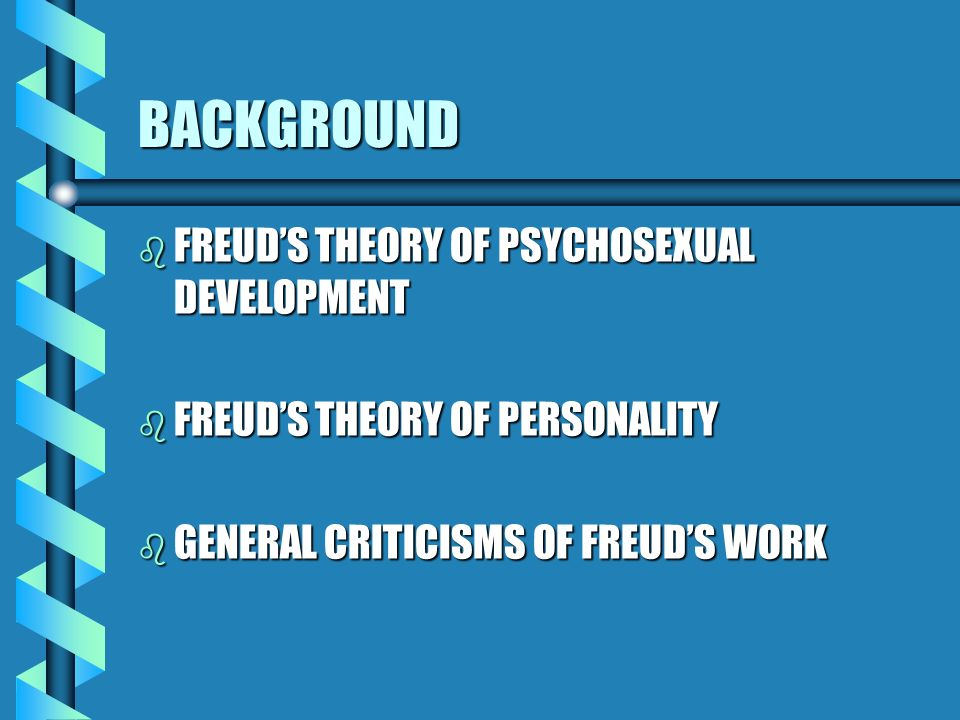 Psychosexual development criticism