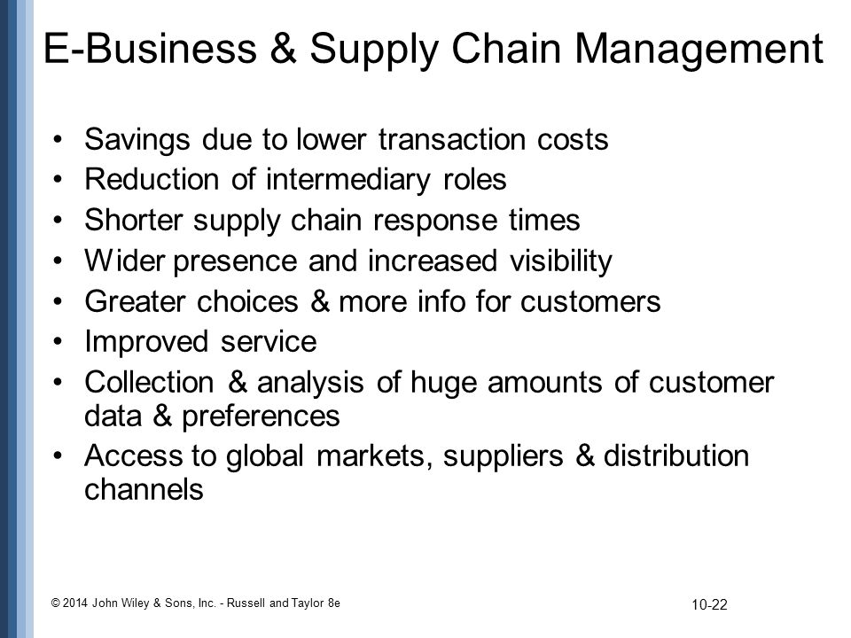 E-Business & Supply Chain Management