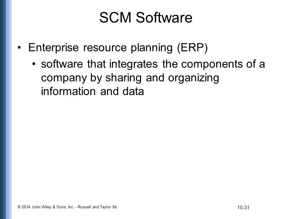 SCM Software Enterprise resource planning (ERP)