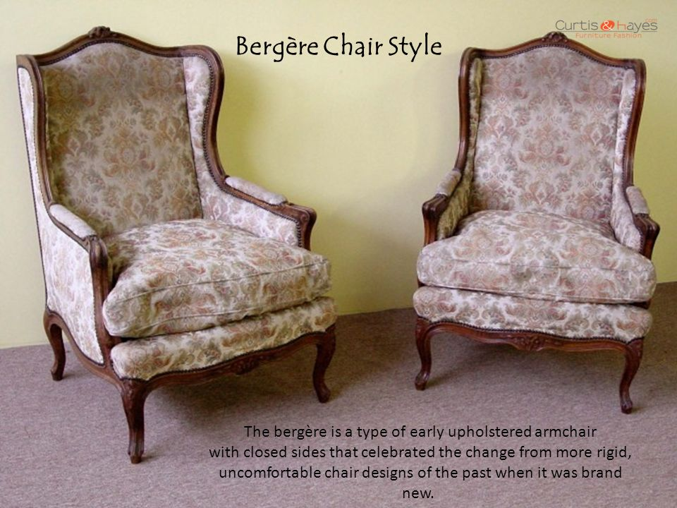 Bergère Chair Style - Know Your Antique Chair Styles - Ppt Video Online Download