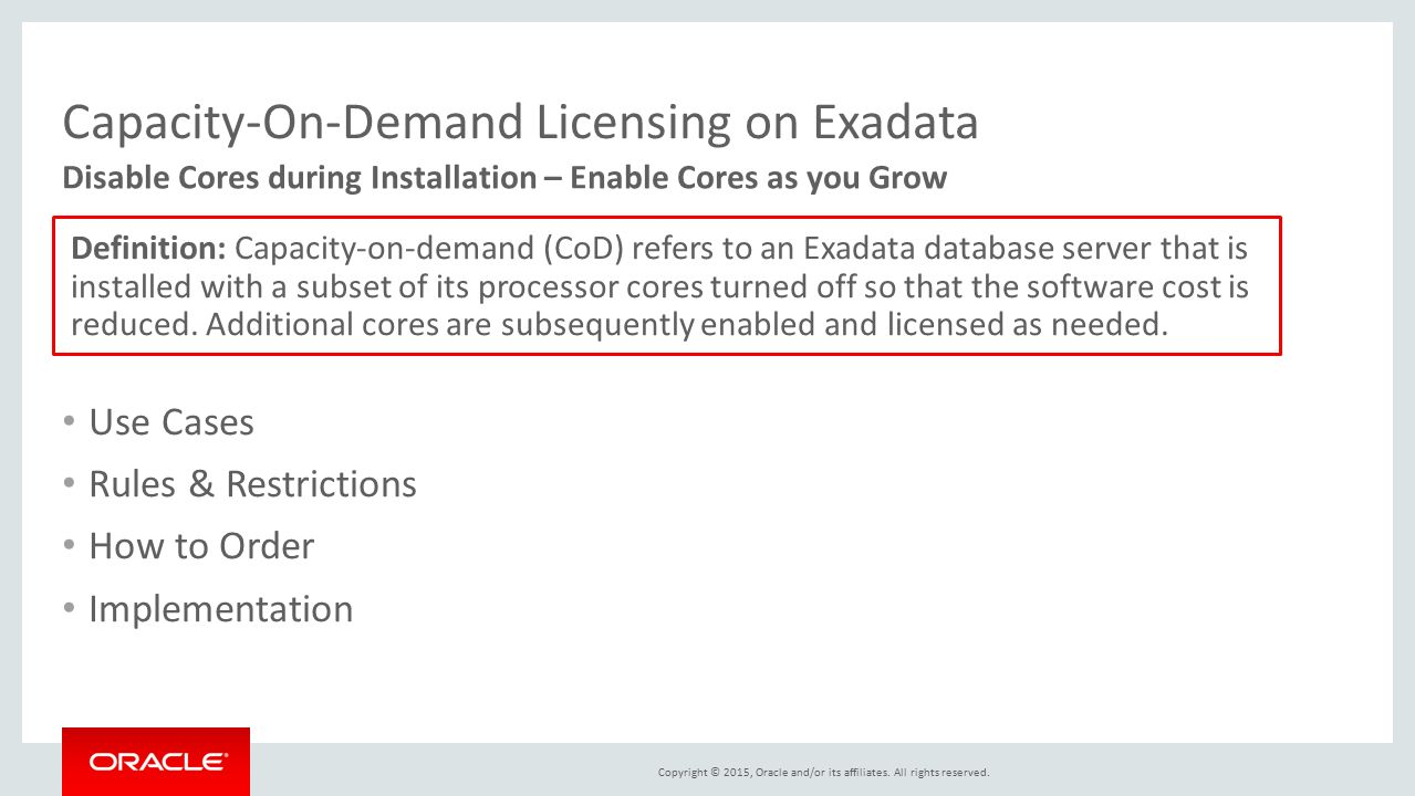 exadata database machine x5 ppt download rh slideplayer com  exadata database machine administration workshop student guide pdf