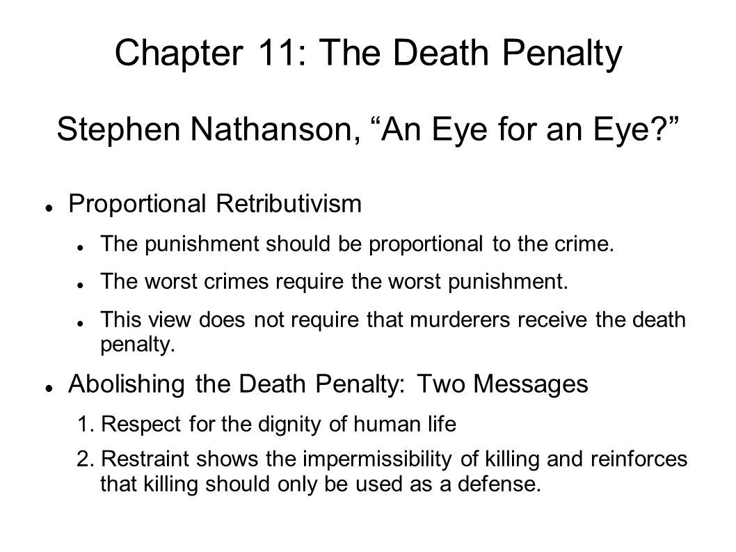 stephen nathanson an eye for an eye