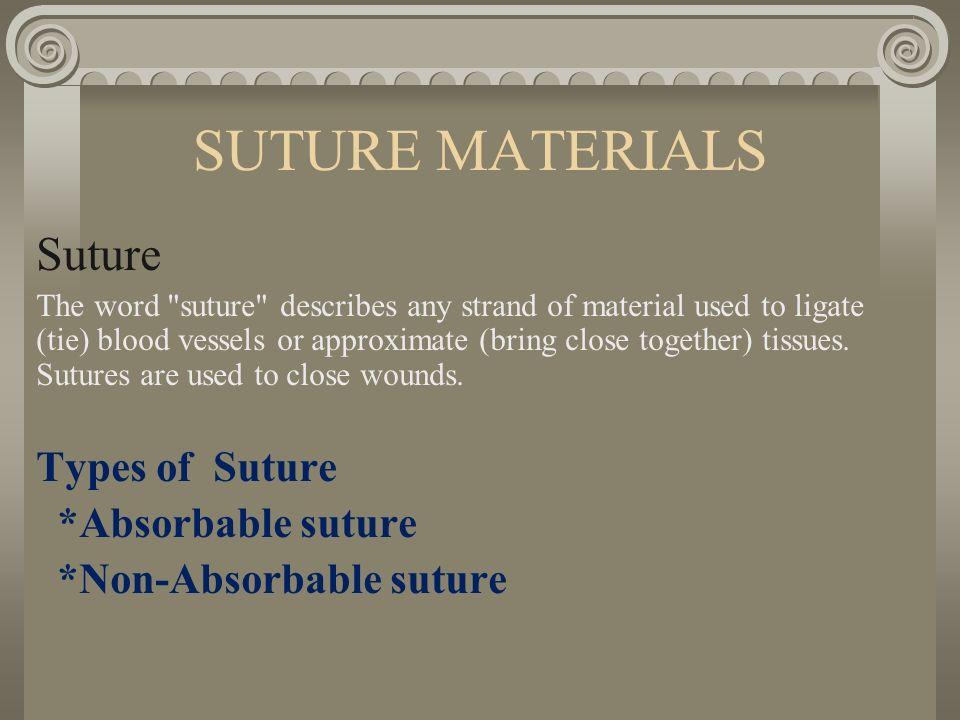 Sutures and suture material  authorstream.
