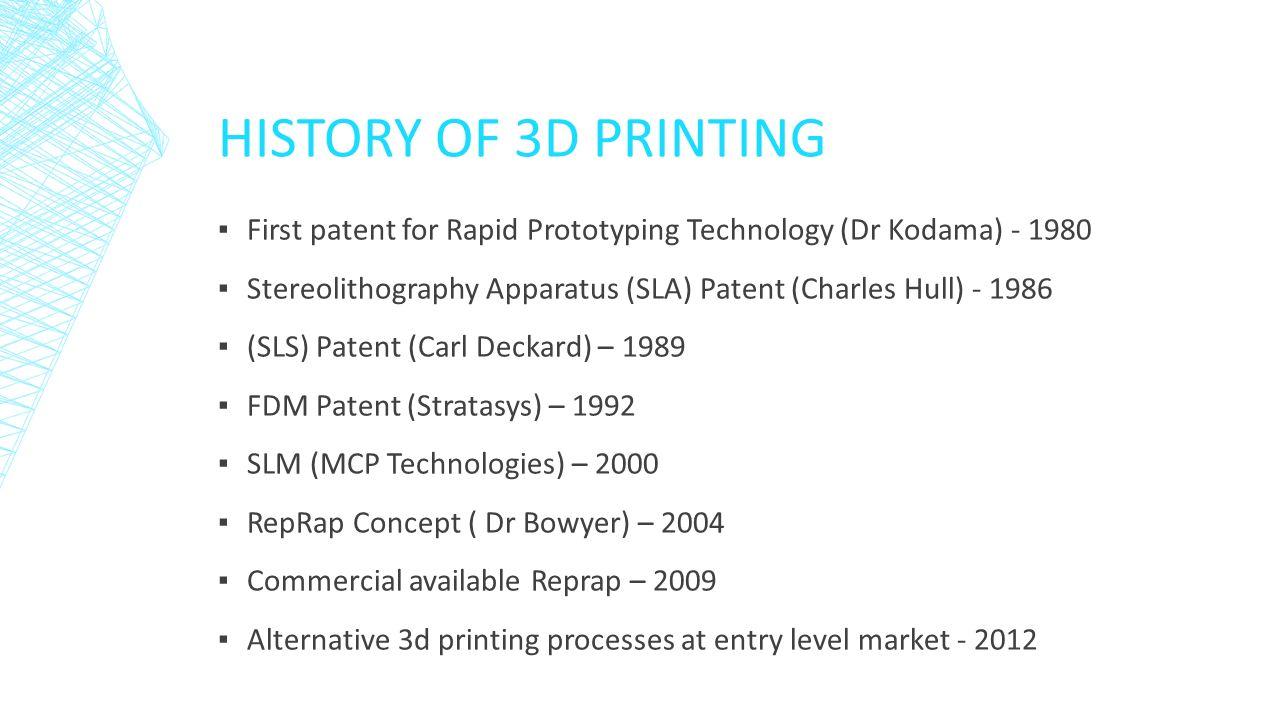 history of rapid prototyping