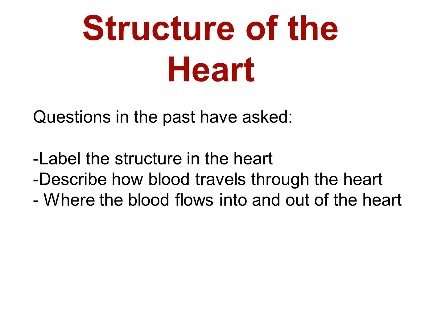 B2 topic 3 starter stick in the heart diagram ppt video online structure of the heart questions in the past have asked ccuart Image collections
