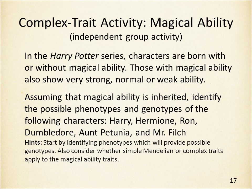 Genetics in Harry Potter's World Lesson 2 - ppt download