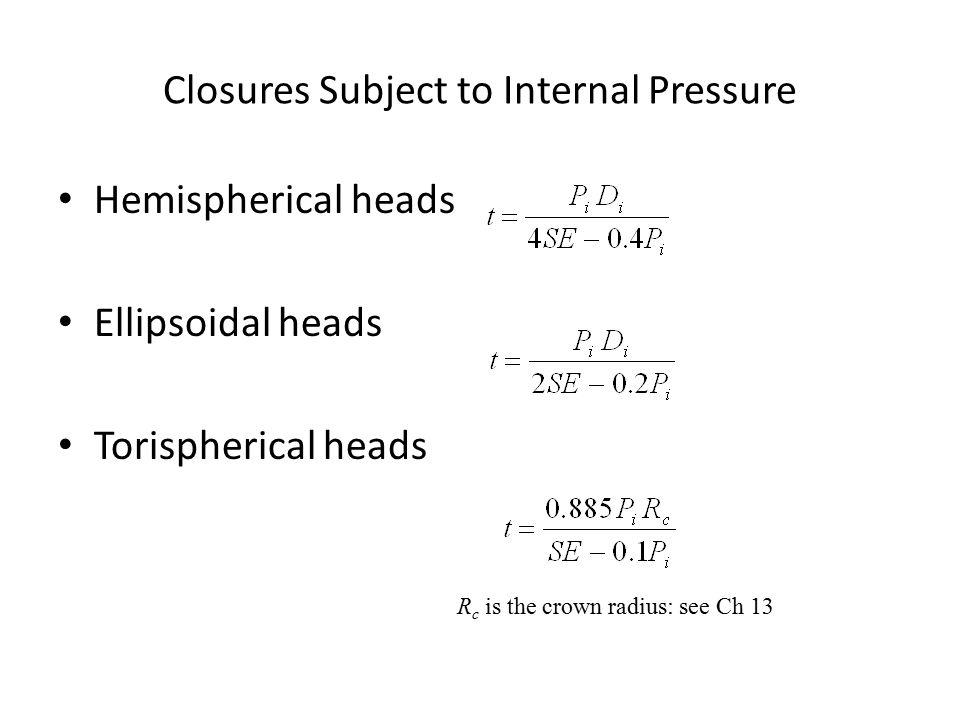 Elliptical head volume 2 1