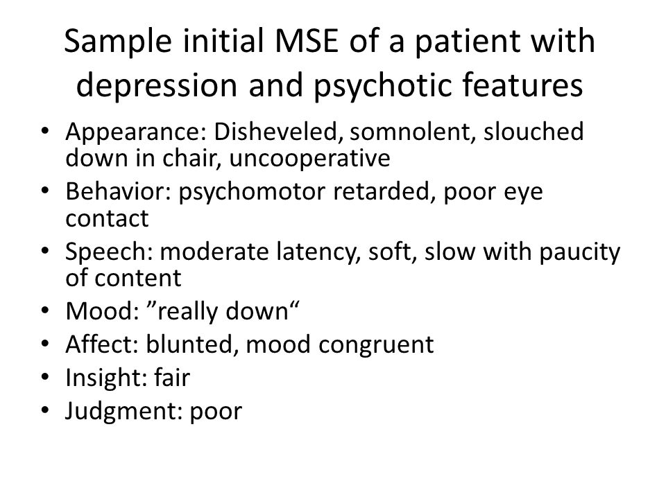 mse mental status exam To understand the role of the mental status exam in in diagnostic,  every mse should include some comment on memory, orientation, and level of attention.