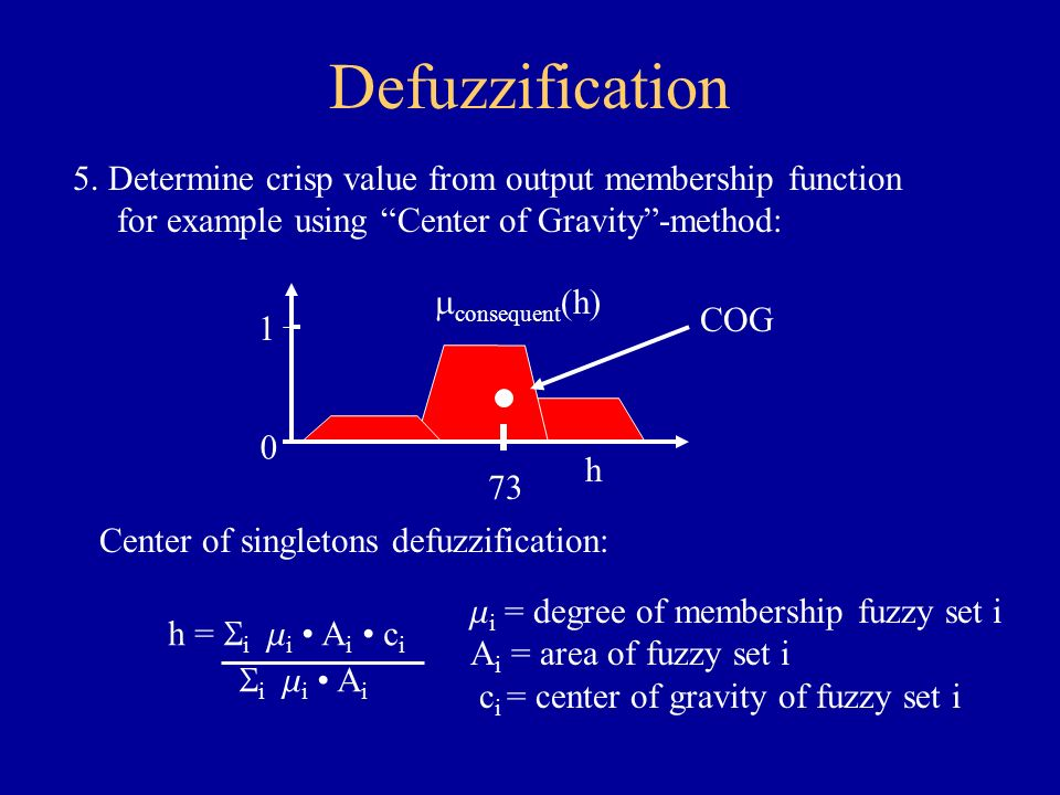 Defuzzification example