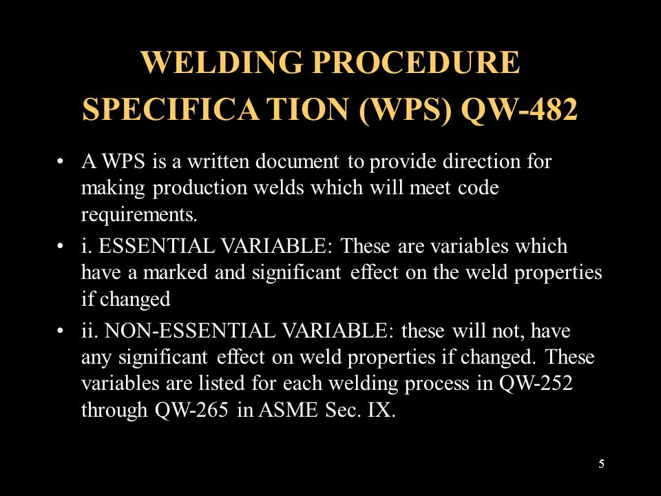 WELDING PROCEDURES And WELDERS QUALIFICATION Ppt Video