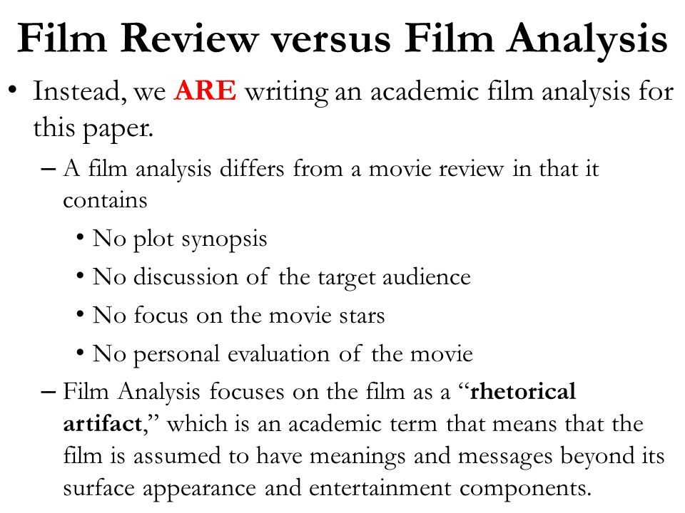 academic film review