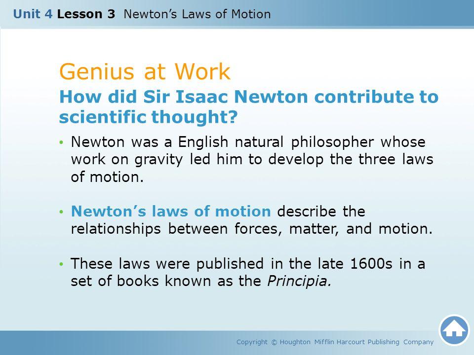 Unit 4 Lesson 3 Newton's Laws of Motion - ppt video online download