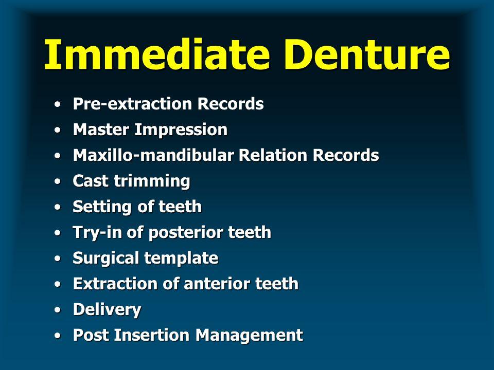 Immediate Complete Dentures Ppt Video Online Download