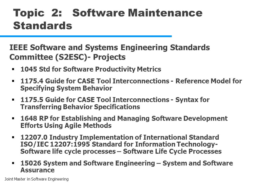 software maintenance and evolution jmse sm e unit 5 maintenance rh slideplayer com CMMS Maintenance Management Software Software Maintenance and Support