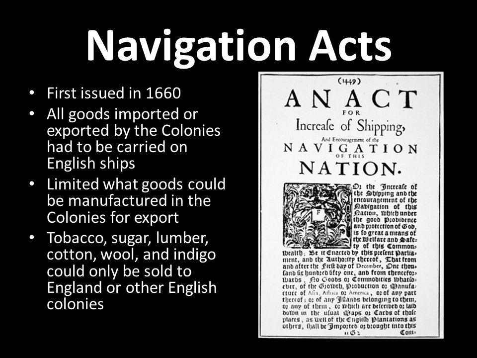 first navigation act