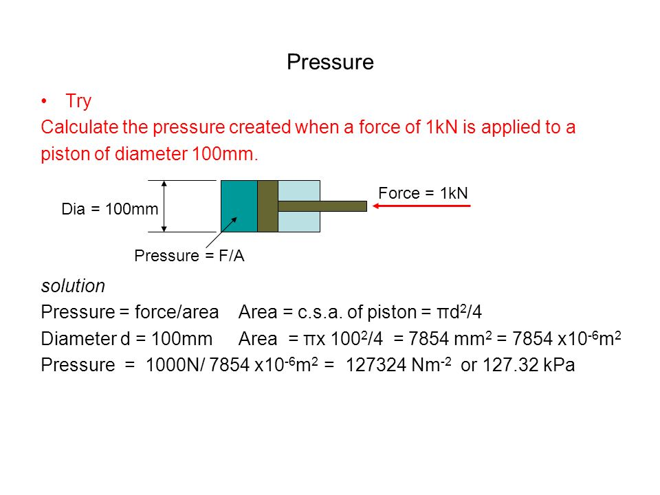 Hydraulic pneumatic cylinder extend force calculator engineers edge.