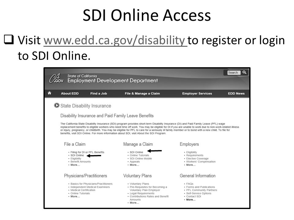 California State Disability Insurance - ppt video online