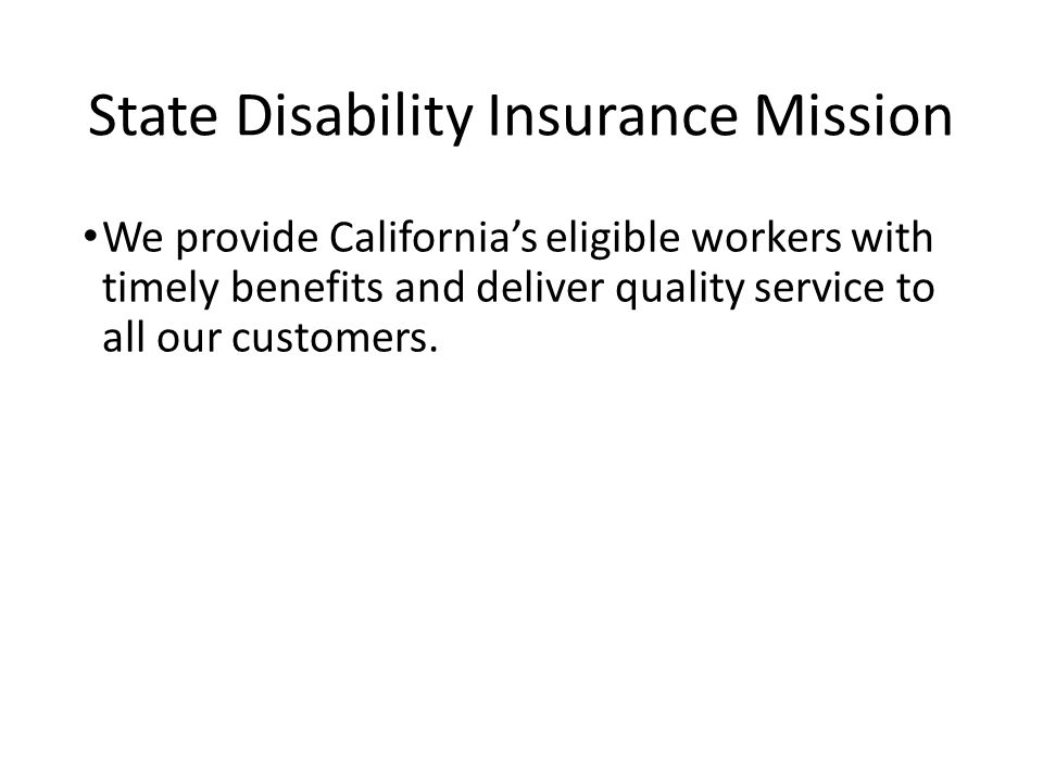 California State Disability Insurance - ppt video online ...