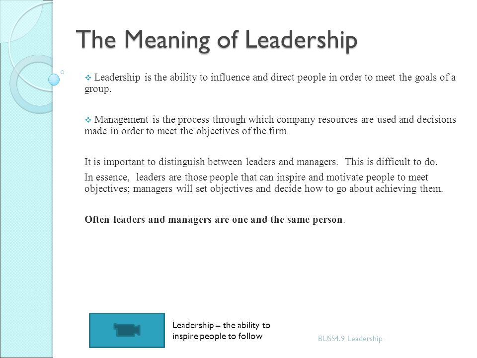 Managing change leadership ppt video online download the meaning of leadership m4hsunfo