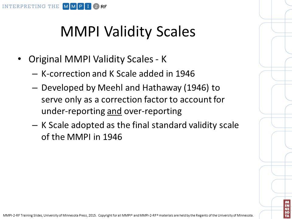 INTERPRETING THE MMPI-2-RF - ppt video online download