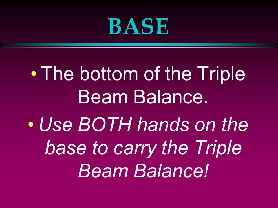 Parts Of The Triple Beam Balance Ppt Video Online Download