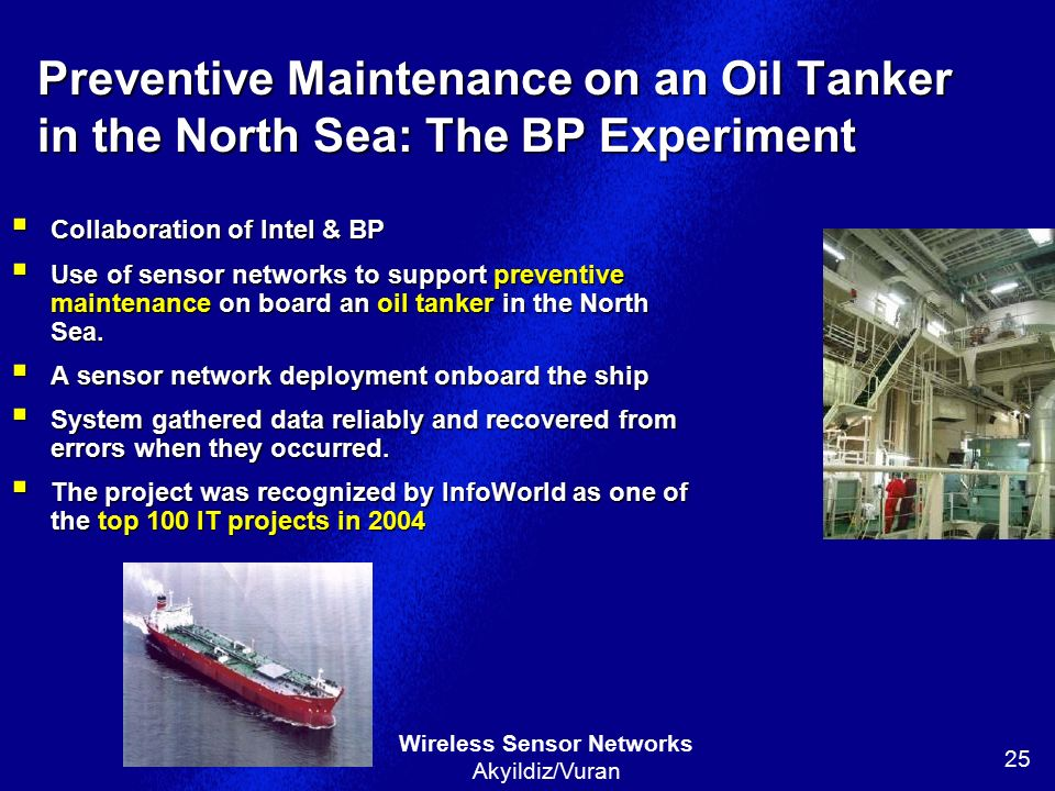 Preventive Maintenance on an Oil Tanker in the North Sea: The BP Experiment