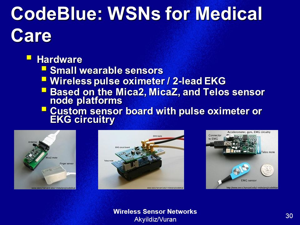 CodeBlue: WSNs for Medical Care