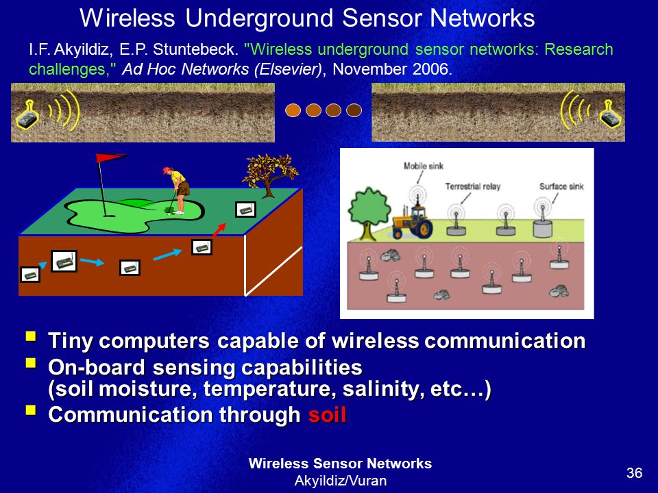 Wireless Underground Sensor Networks
