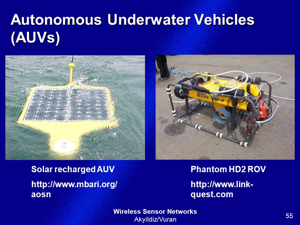 Autonomous Underwater Vehicles (AUVs)