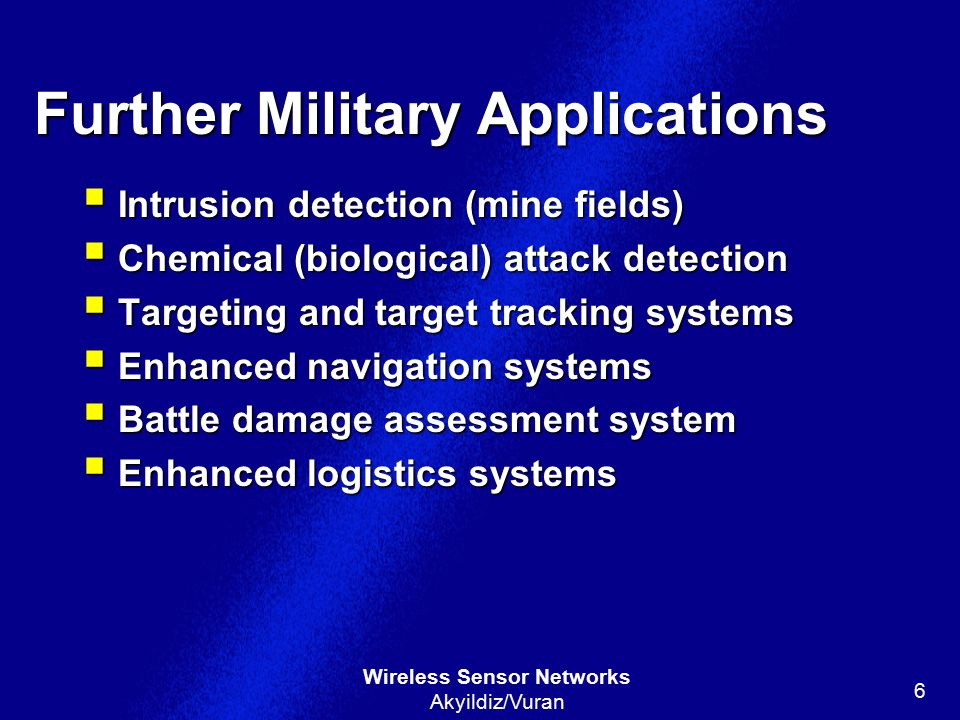 Further Military Applications