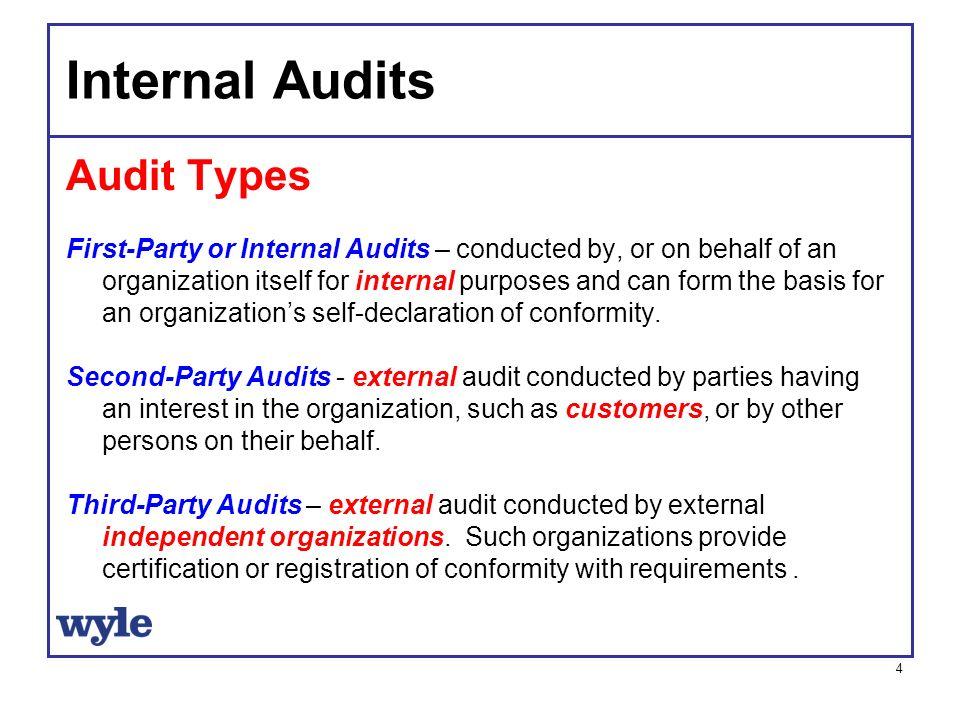 Internal Audits Audit Types