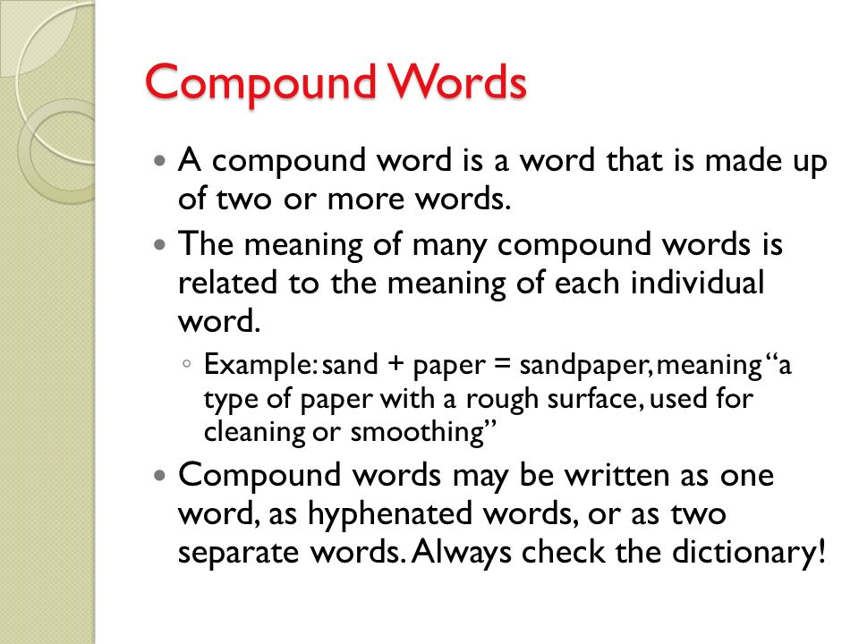 what is a word made up of 4 letters compound words and connotation amp denotation 1711