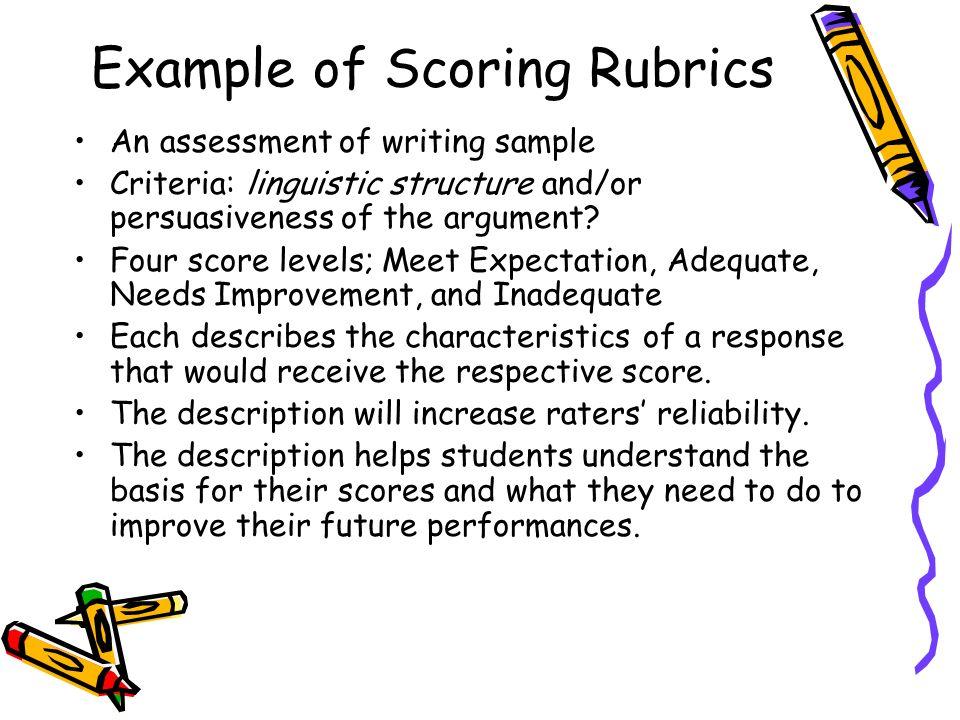 Tcap writing assessment scoring rubric examples.