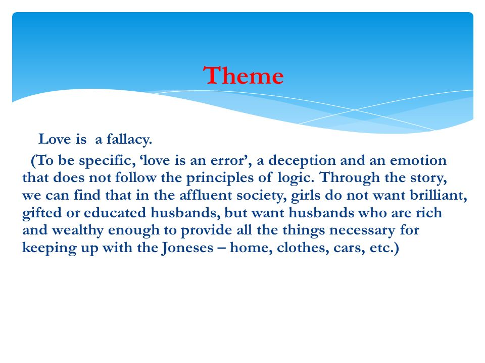 Thesis of love is a fallacy best business plan writer sites uk