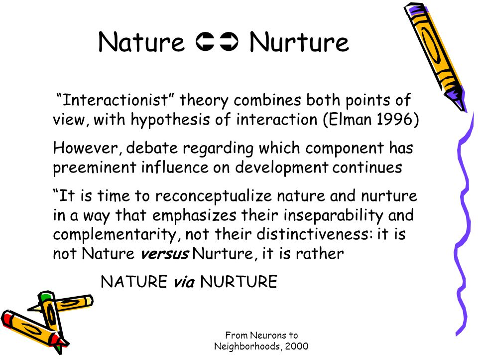 influence of nature and nurture in child development