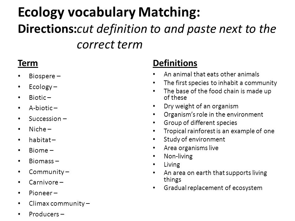 ecology unit study guide ppt download rh slideplayer com Study Guide for 7th Grade Ecology Worksheet 6th-Grade Ecology Study Guide